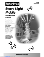 fisher price starry night mobile 73458 manuals rh manualslib com fisher price cradle swing user manual fisher price swing user manual