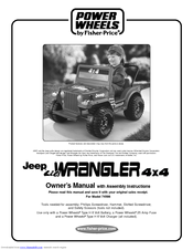 fisher price power wheels 74598 manuals rh manualslib com jeep wrangler power wheels instruction manual Power Wheels Jeep Hurricane Ride On Charcoal