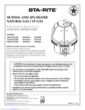 Manuals And User Guides For Sta Rite Sr400lp We Have 3 Available Free Pdf Owner S Manual