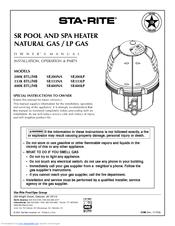 STA-RITE SR333LP Owner's Manual