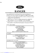 Ford Ranger Owner S Manual Pdf Download