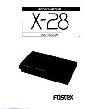 fostex x 28 manuals rh manualslib com Fostex X12 Fostex Speakers Drivers