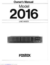 fostex 2016 owner s manual pdf download rh manualslib com