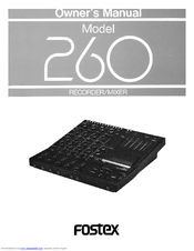 fostex 260 manuals rh manualslib com