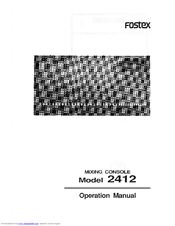 fostex 2412 manuals rh manualslib com