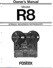 fostex r8 owner s manual pdf download rh manualslib com