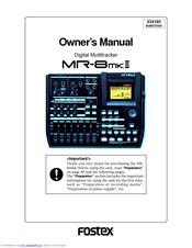 fostex mr8 mk2 manuals rh manualslib com Fostex Speakers Drivers Fostex MR16
