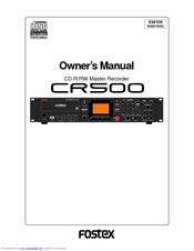 fostex cr500 manuals rh manualslib com