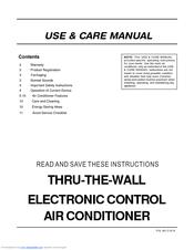 frigidaire fah126r2t 12 000 btu through the wall air conditioner rh manualslib com arctic king wall air conditioner manual lg wall unit air conditioner manual