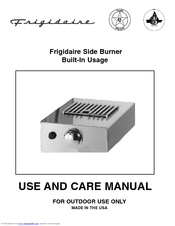 Frigidaire Side Burner Use And Care Manual