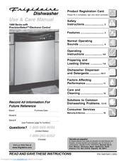 frigidaire fdb1050res 24 inch dishwasher manuals rh manualslib com Frigidaire Gas Range Model Ffgf3054ts Frigidaire Gas Range Model Ffgf3054ts
