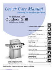 Frigidaire Electric Patio Grill Use & Care Manual