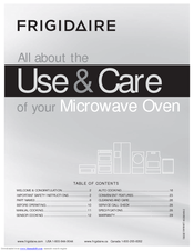 Frigidaire 316495054 Important Safety Instructions Manual