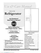 Frigidaire 241856001 Use And Care Manual
