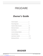 Frigidaire 131843000C Owner's Manual
