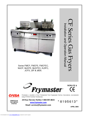 Frymaster MJCF Installation And Operation Manual