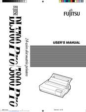 Fujitsu DL-3800 User Manual