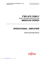 Fujitsu MB95F430 Series Application Note