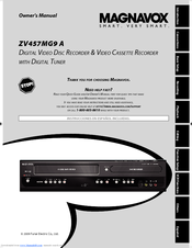 magnavox zv457mg9 a manuals rh manualslib com Magnavox DV225MG9 DVD VCR Combo Magnavox MDV3000