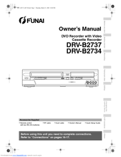 FUNAI DRV-B2737 Owner's Manual