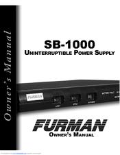 furman sb 1000 e manuals rh manualslib com Clip Art User Guide User Manual