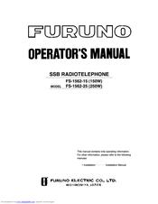 Furuno FS-1562 Operator's Manual