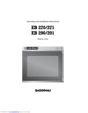 gaggenau eb 271 manuals rh manualslib com gaggenau coffee machine instruction manual gaggenau coffee machine instruction manual