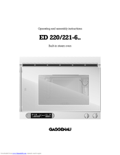 gaggenau ed 220 221 6 manuals. Black Bedroom Furniture Sets. Home Design Ideas