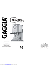 Gaggia BABY CLASS D Manuals