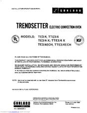 Garland TRENDSETTER TE4 Manuals on