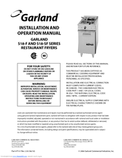 GARLAND S18SF SERIES INSTALLATION AND OPERATION MANUAL Pdf ... on