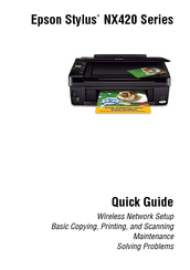 EPSON STYLUS NX420 SERIES QUICK MANUAL Pdf Download