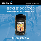 garmin edge edge 605 owner s manual pdf download rh manualslib com Garmin Edge 800 Performance Bundle Garmin Products