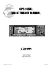 GARMIN 155XL MAINTENANCE MANUAL Pdf Download