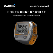 garmin forerunner 310xt owner s manual pdf download rh manualslib com manual forerunner 310xt español Garmin Wrist GPS Waterproof