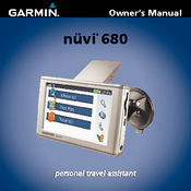 garmin nuvi 680 automotive gps receiver manuals rh manualslib com nuvi 680 na manual