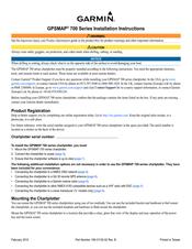 Garmin nuvi 750 Installation Instructions Manual