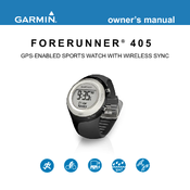 garmin forerunner 405 owner s manual pdf download rh manualslib com garmin 405cx user manual Instruction Manual