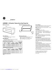 GE AZ38H09DAD Specification Sheet