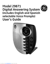 ge 29871 manuals rh manualslib com AT&T Digital Answering Machine AT&T Digital Answering Machine