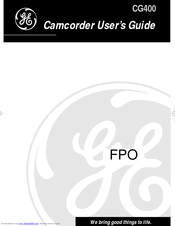 GE CG400 User Manual