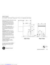 Ge Profile Harmony Dpgt750gc Manuals