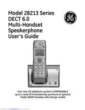 ge 28214ke2 manuals rh manualslib com General Electric DECT 6 0 Manual GE Phones 6 0
