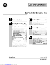 GE 164D2966P205-1 Use And Care Manual