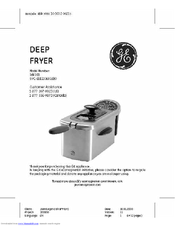 ge 169168 manuals rh manualslib com General Electric Deep Fryer Manual ge cool touch deep fryer manual