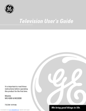 GE MG20200 User Manual