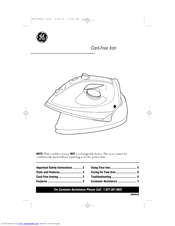 GE 840096400 Owner's Manual