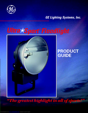 GE UltraSport Product Manual