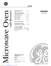 ge jes1384sf owner s manual pdf download rh manualslib com Panasonic Microwave Oven Manual Sunbeam Microwave
