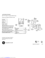 GE JKP55BMBB Dimensions And Installation Information